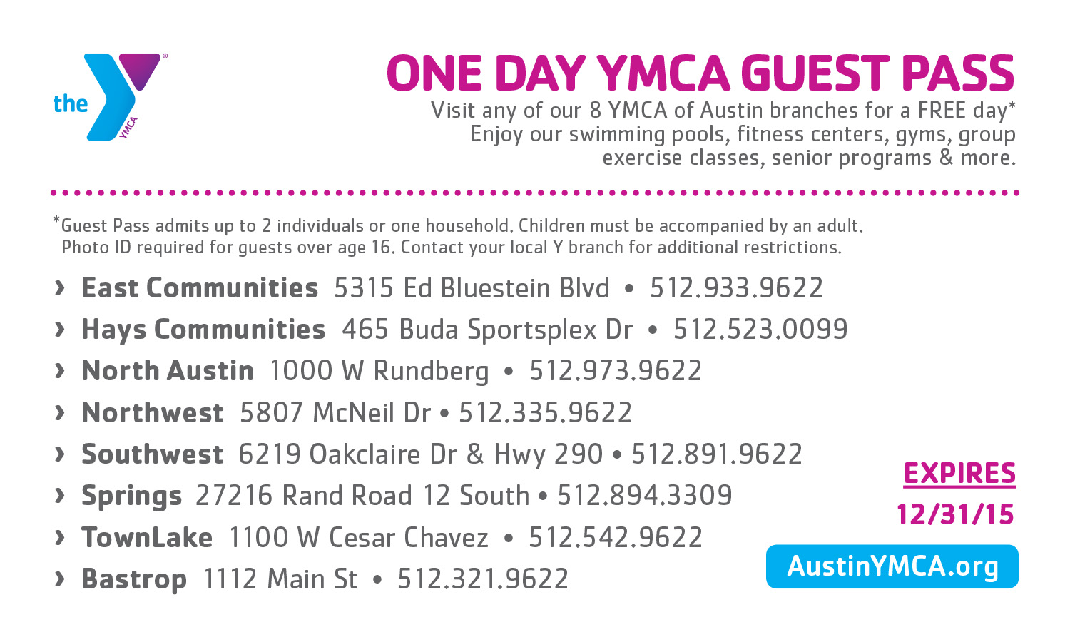 Join The Y Today Membership Ymca Of Austin Austin Tx