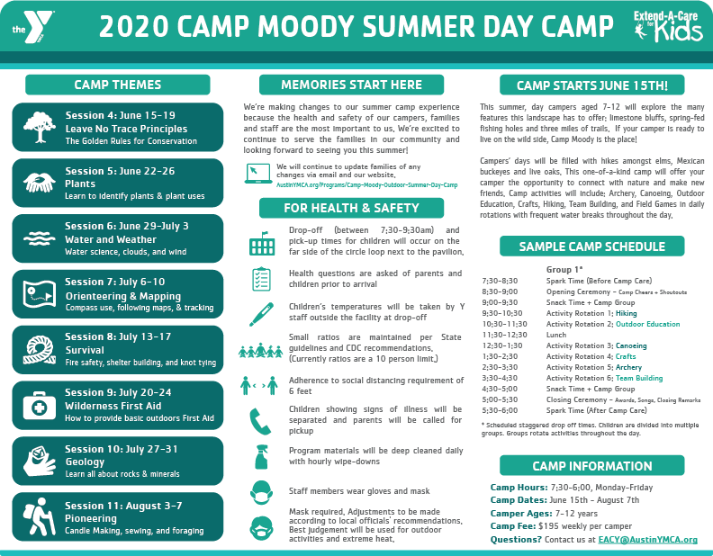 Camp Moody Summer Day Cap information