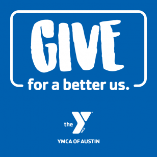 """Blue background with text: """"Give for a better us."""""""
