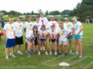 Kickball Team taunt photo