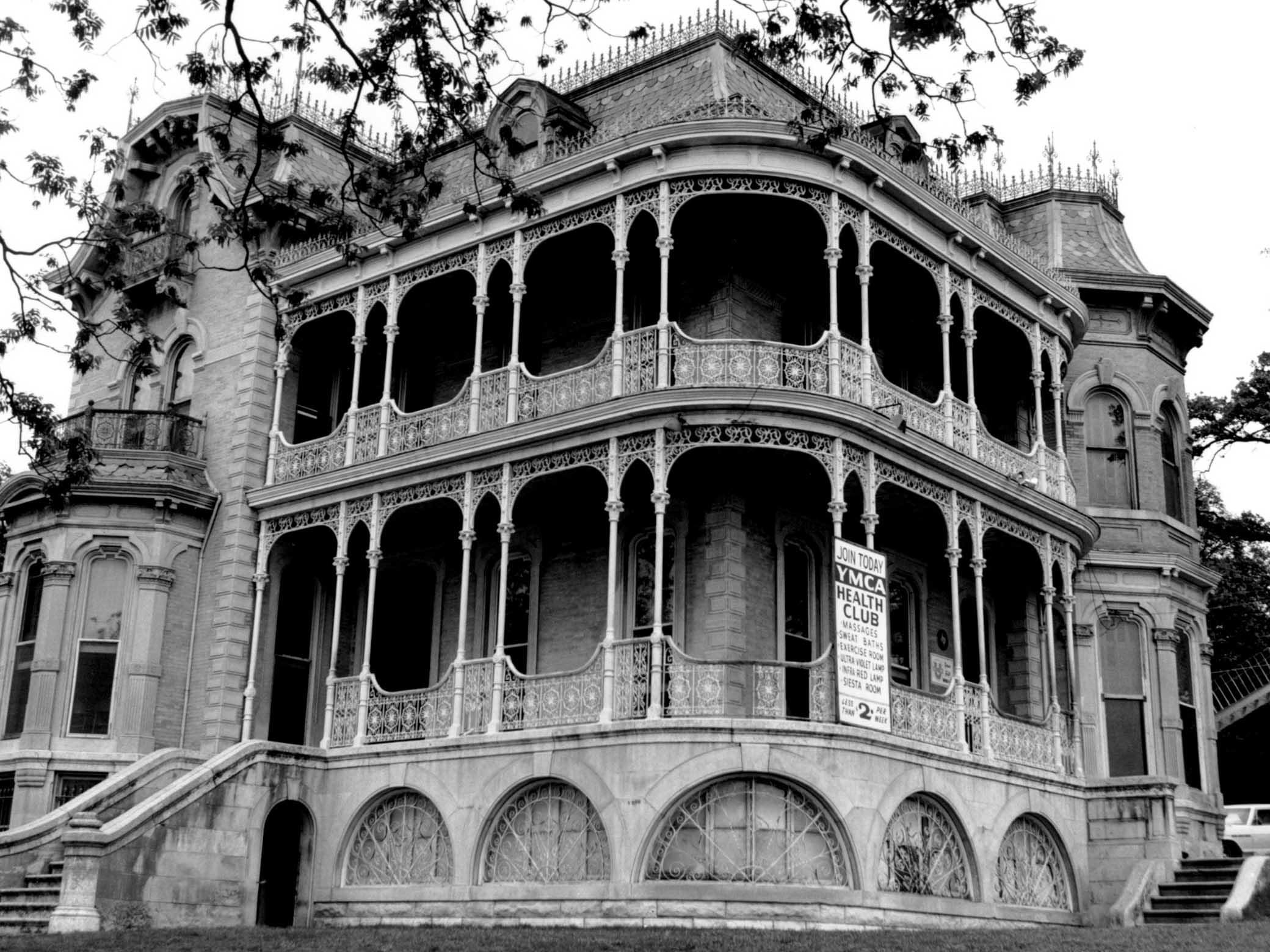 Historical black and white photo of YMCA Bremond House