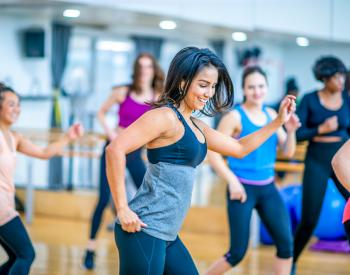 Group practices dance at YMCA