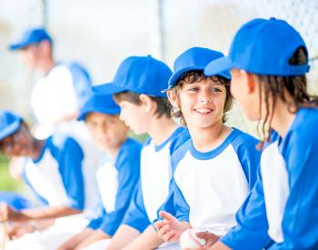 Group of young boys in baseball uniforms