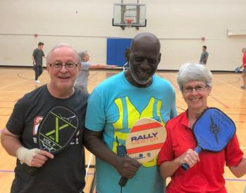 Group of older adults at pickleball