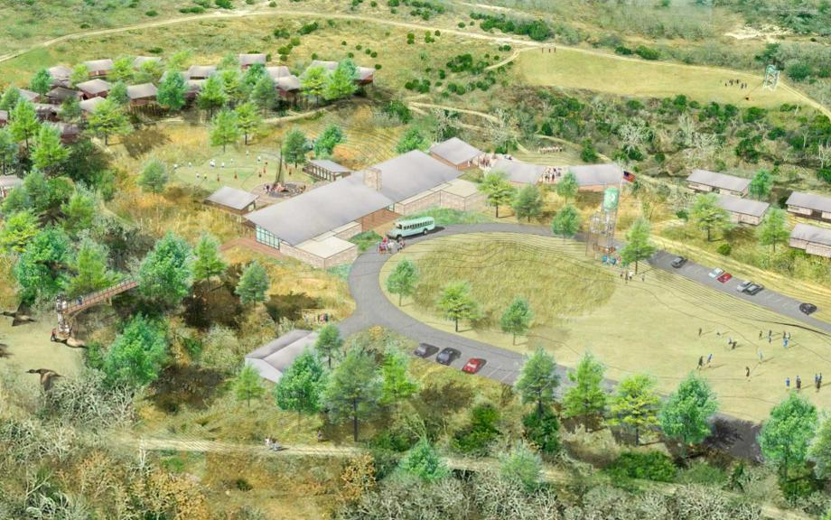 Aerial rendering of YMCA Camp Moody