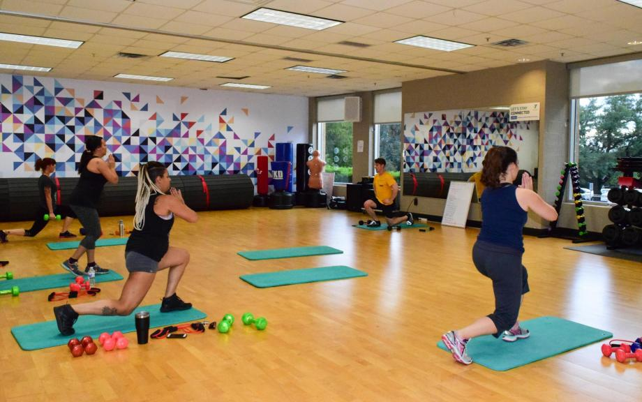 Yoga class at Northwest Family YMCA